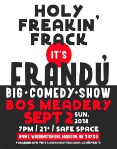 Frandu at Bos Meadery Sept 2 2018 - 7pm
