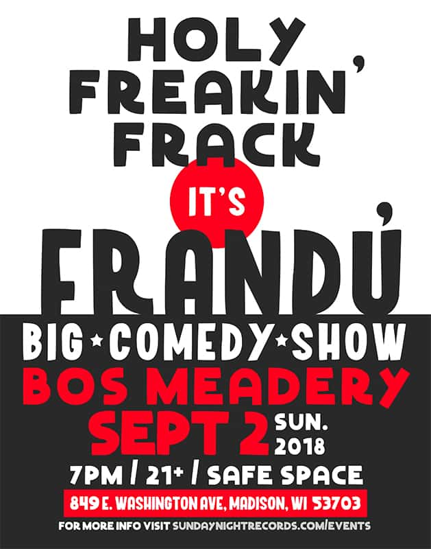 Frandu at Bos Meadery Sept 2 2018 - 7pm